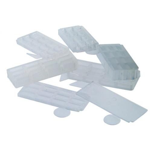 Cales en Plastique 5x2 cm Translucides (les 100)