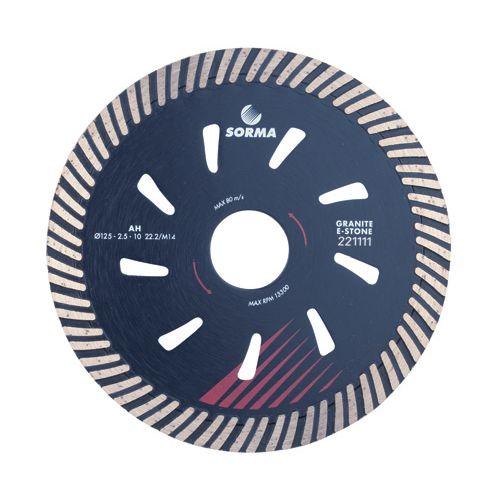 Disque Diamant Ø125 mm M14 Turbo Rapide Granit SORMA
