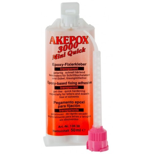 Cartouche AKEPOX 3000 Transparent Rapide 50 ml