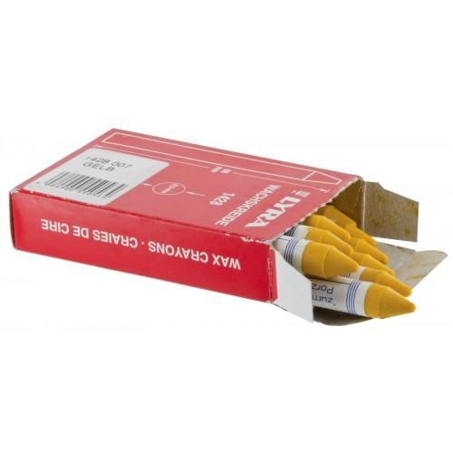 Boîte de 12 Craies de Marquage à la Cire L.90 mm Ø9,5 mm LYRA 1428