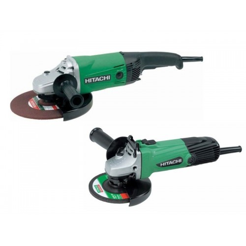2 Meuleuses Hitachi Ø125 mm 600W + Ø 230 mm 2000W + Disques Diamant