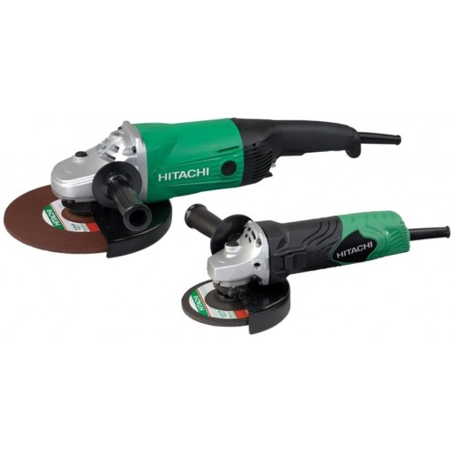 2 Meuleuses Hitachi Hikoki Ø125 mm 840W + Ø 230 mm 2200W