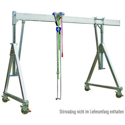 Portique Alu Mobile - Charge 1000 kg Longueur 4 m (Sans Palan)